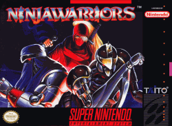 Ninja Warriors for SNES Box